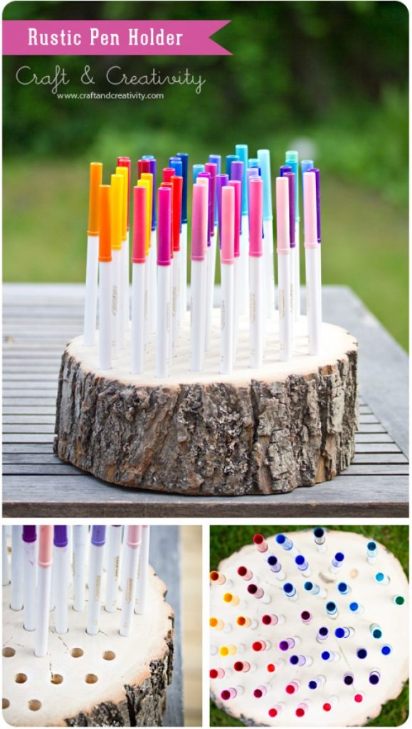 Backyard Stump Pencil Holder Forest