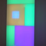 The style of neon wall art idea is serene and calming.