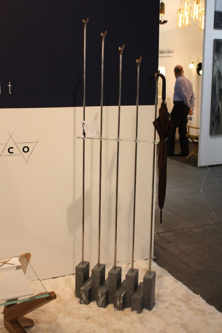 Coat racks usually take up more space but this linear one is streamlined.