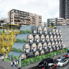 Concrete Water Pipes Apartments