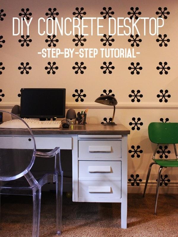DIY Concrete Desktop