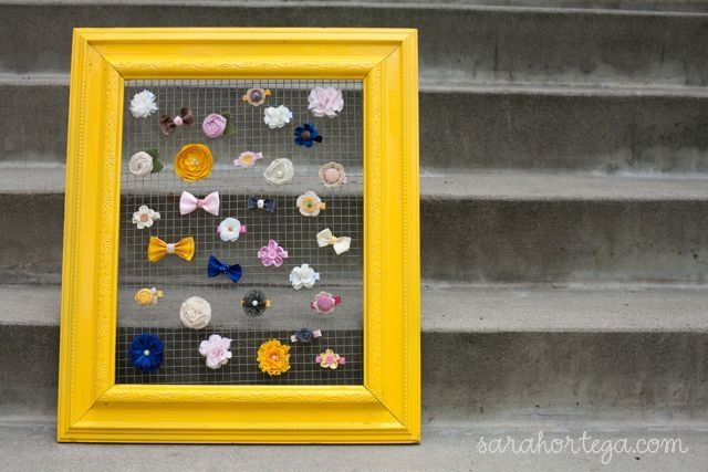 Cute organizer from a repurposed picture frame
