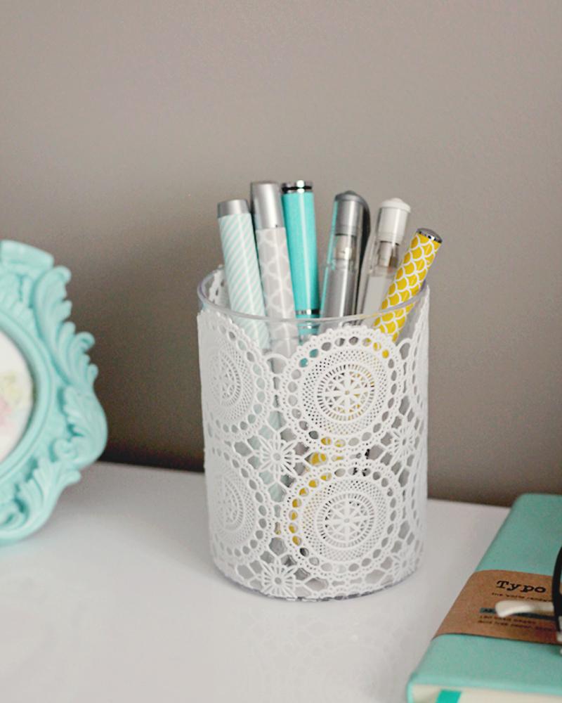 Delicate Doily Pencil Cup