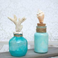 Glass Bottle Table Centerpieces