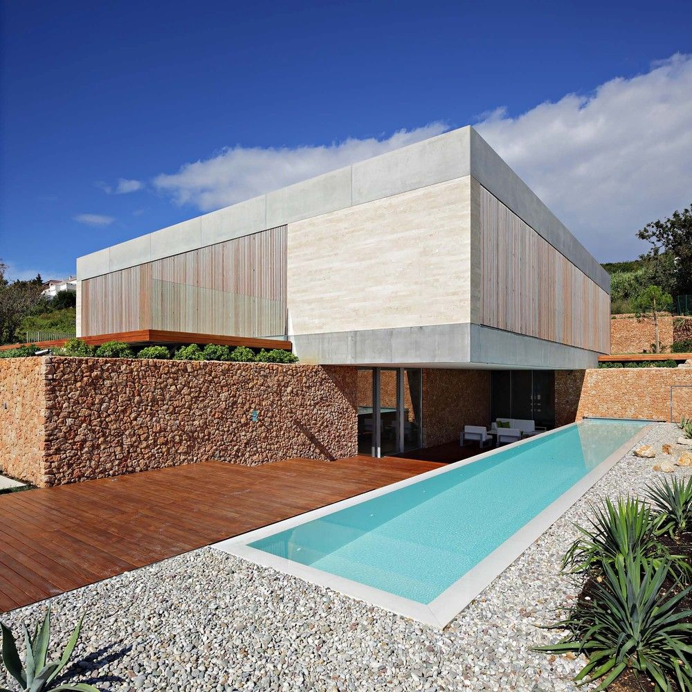 Gravel and deck for swimming pool