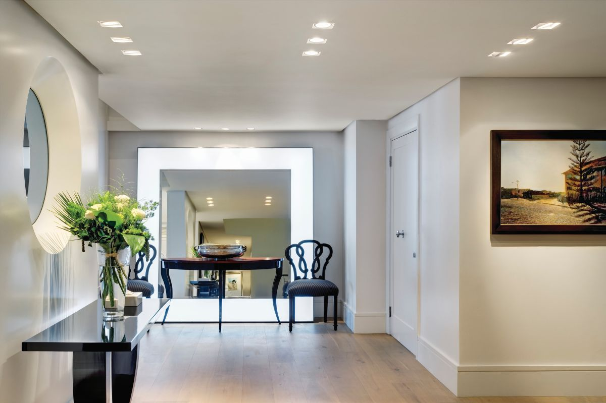 The entrance lobby is bright and spacious and sets the tone for the rest of the apartment