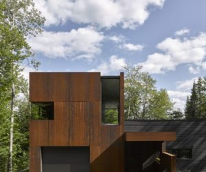 Charming Lakeside House Uses Corten Steel With Blend In With Nature