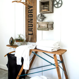 Industrial farmhouse Laundry decor