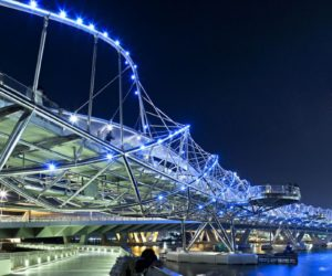 LED lighting on Helix Bridge in Singapore by Cox Architecture with Architects 61