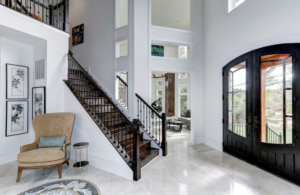 Marble is one of the most sophisticated types of flooring.