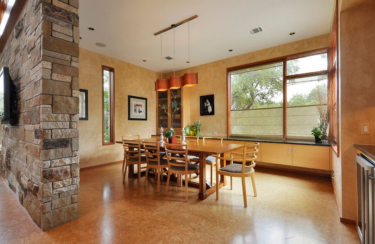 Cork flooring is comfortable, warm and durable.