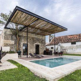 Niop Residence with small backyard pool and pergola