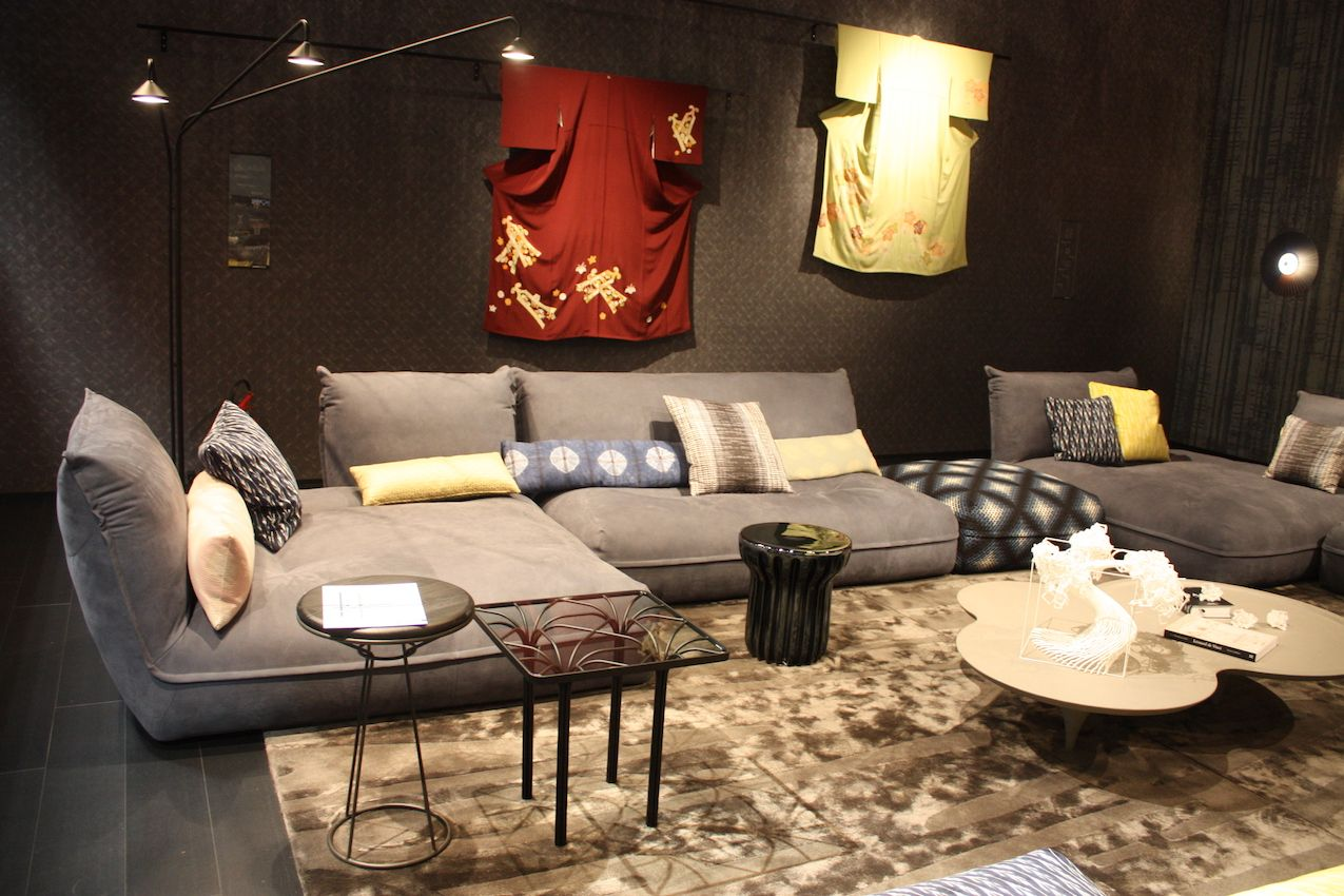 Armless couches tend to be more modern and low slung, like this from Roche Bobois.