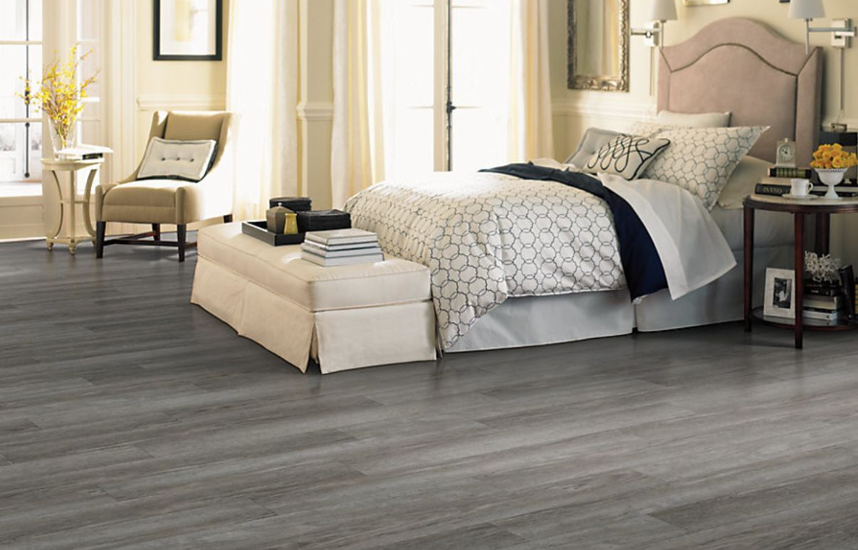Vinyl flooring comes in all kinds of styles and patterns.