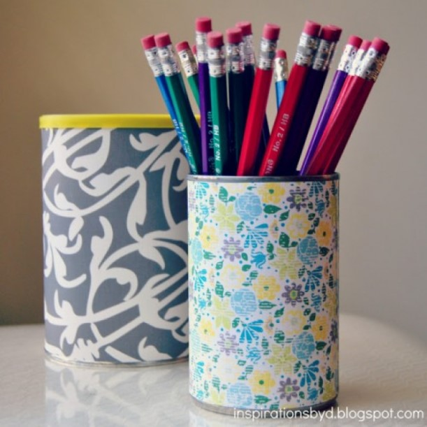 Recycled Can Pencil Holder Cup