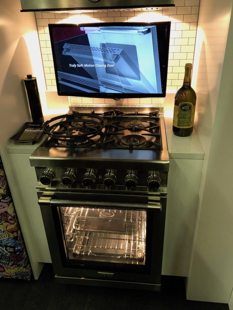 Smaller appliances can be as splashy as the larger versions.