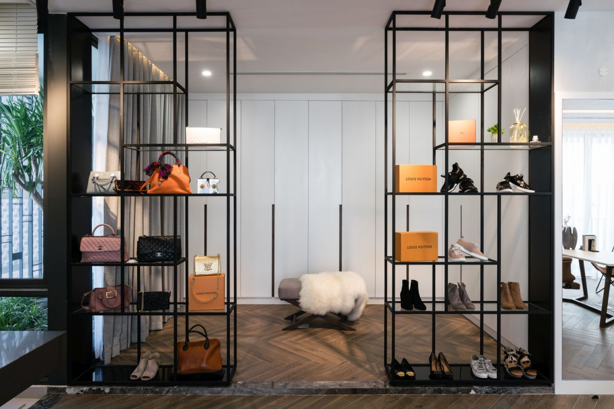 Every space including the storage areas were designed to look stylish and refined