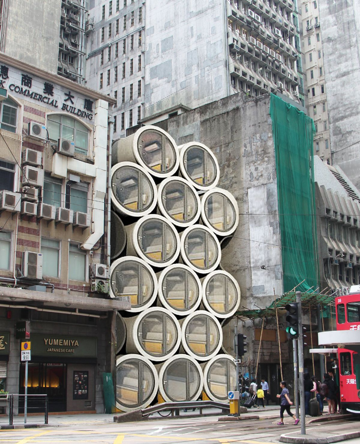 Thanks to this ingenious solution one can now move into a busy city center even if there are no vacant apartments in the area
