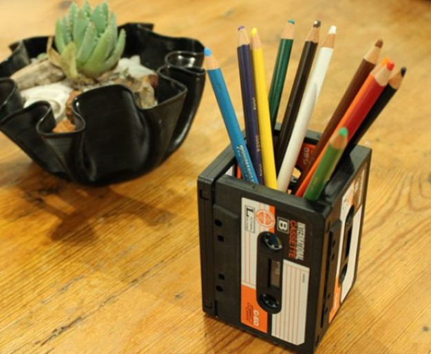 Waste Not Want Not Cassette Tape Pencil Holder