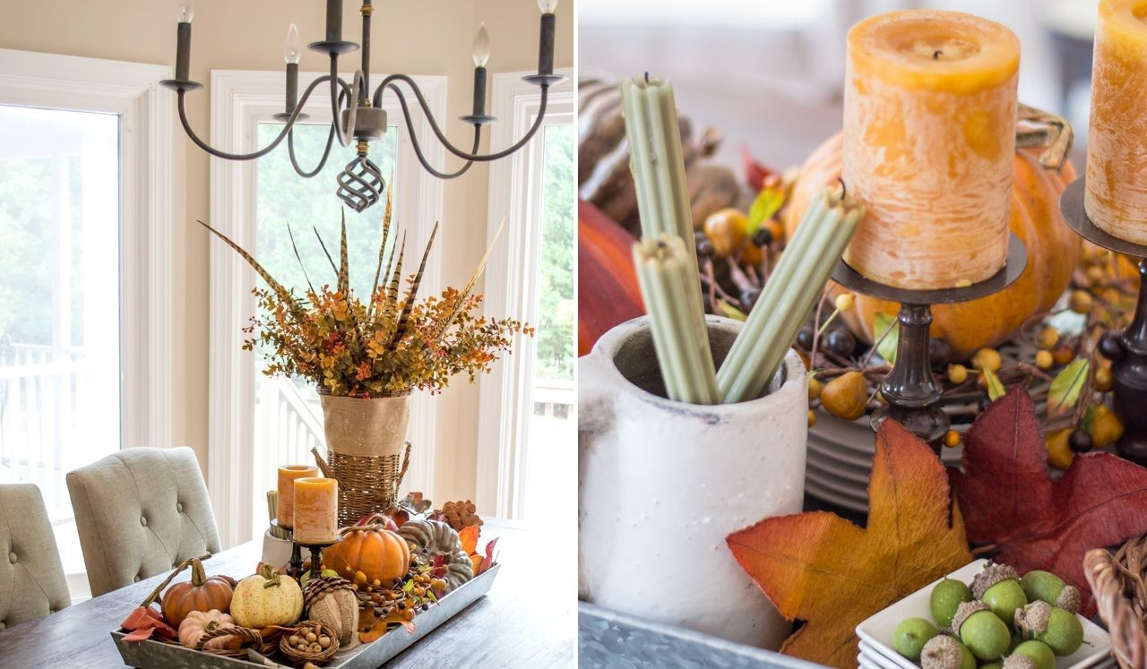 Fall Foraging Tray Table Display