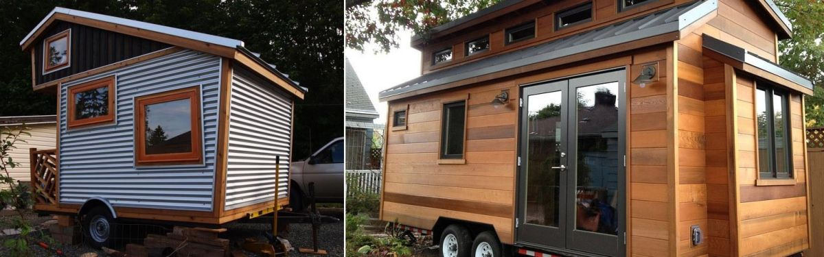 "This ""cider box"" tiny house has cozy, rustic charm galore."