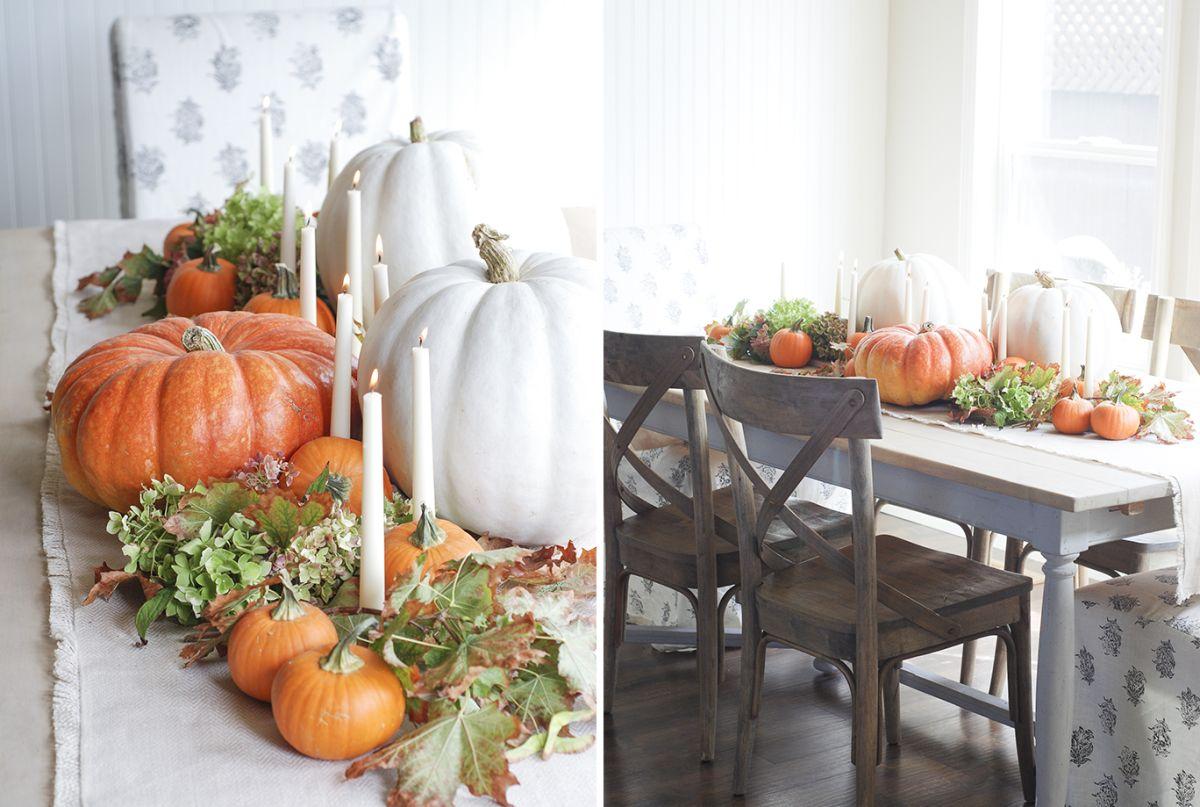 Eclectic Pumpkin Table Display