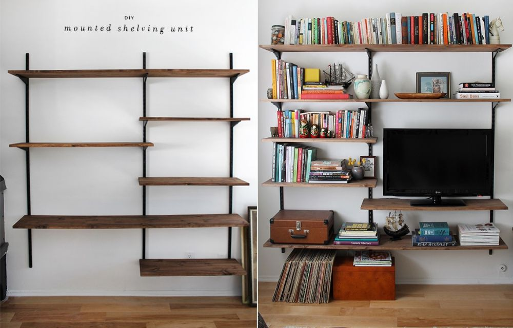 Simple Bookshelves Design