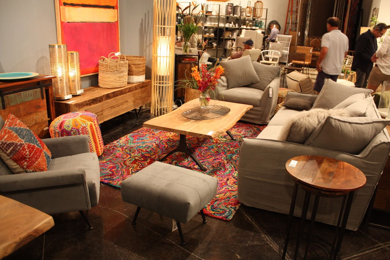 Dovetail's living room is done in an eclectic style.