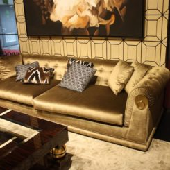 This sofa by Epoca is traditional.