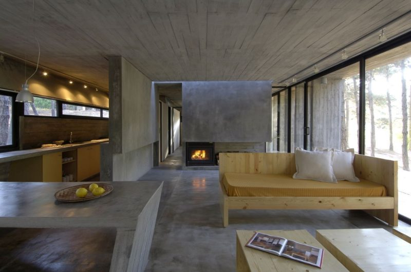 Beautiful Polished Concrete Floors In The Context Of Extraordinary Houses