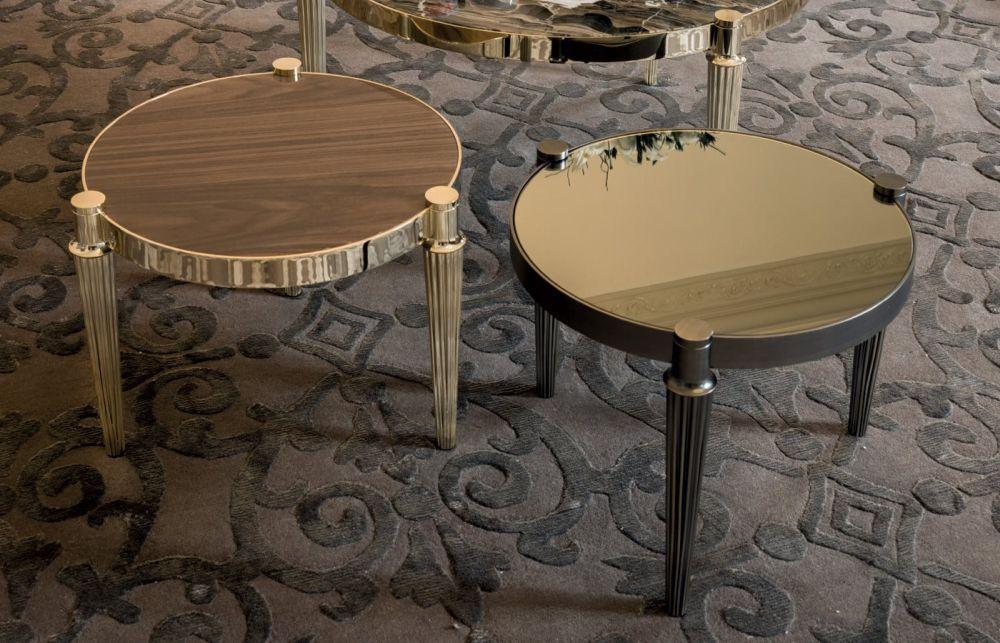 Longhi felix coffee table in gold