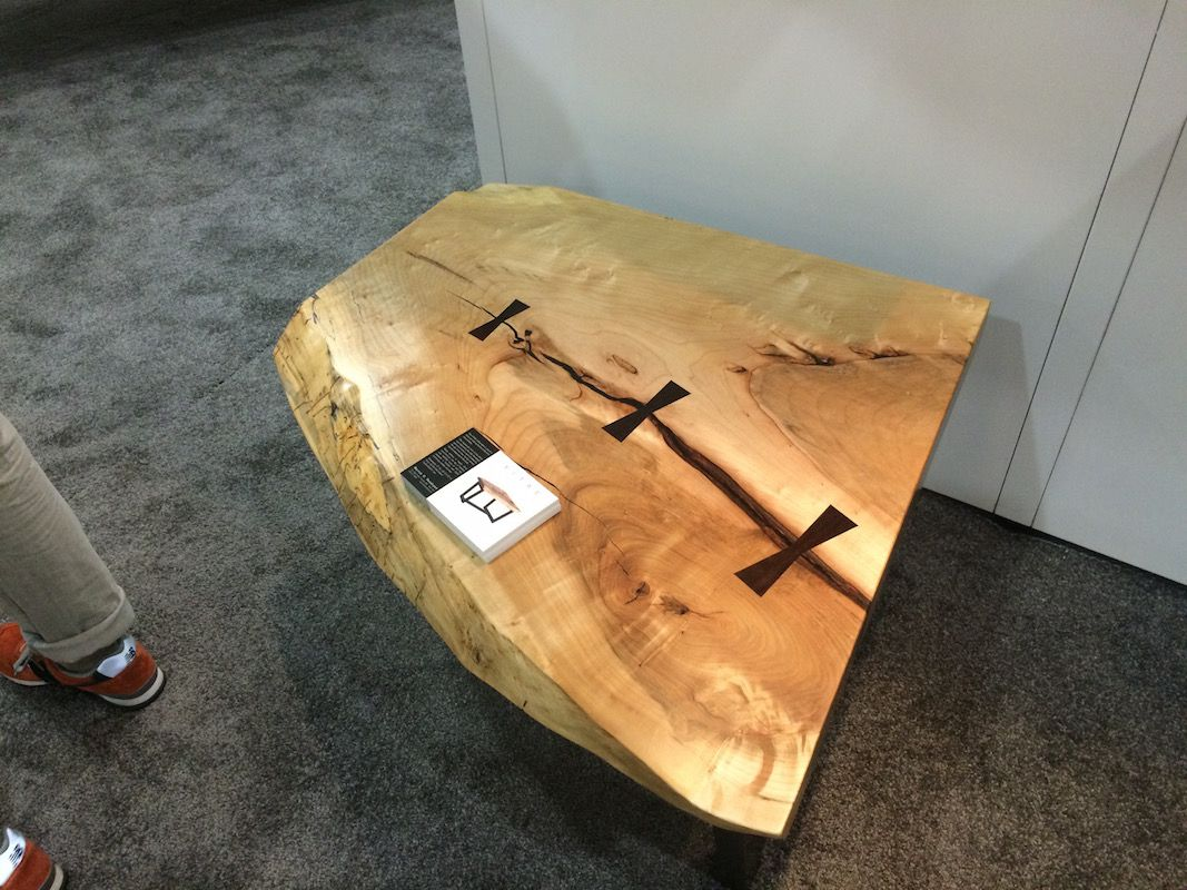 "This live-edge table by Martin Vendryes is a rustic piece.<strong style=""font-size: 16px;""> </strong>"