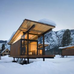 Micro Hotel - Rolling Huts by Olson Kundig