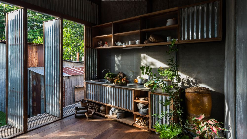 How To Creatively Use Corrugated Metal Panels In Home