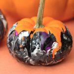 No mess pumpkin painting process