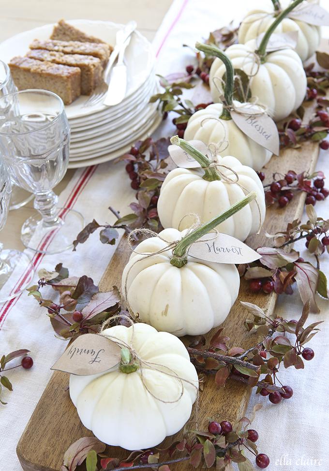 White Pumpkin Table Board