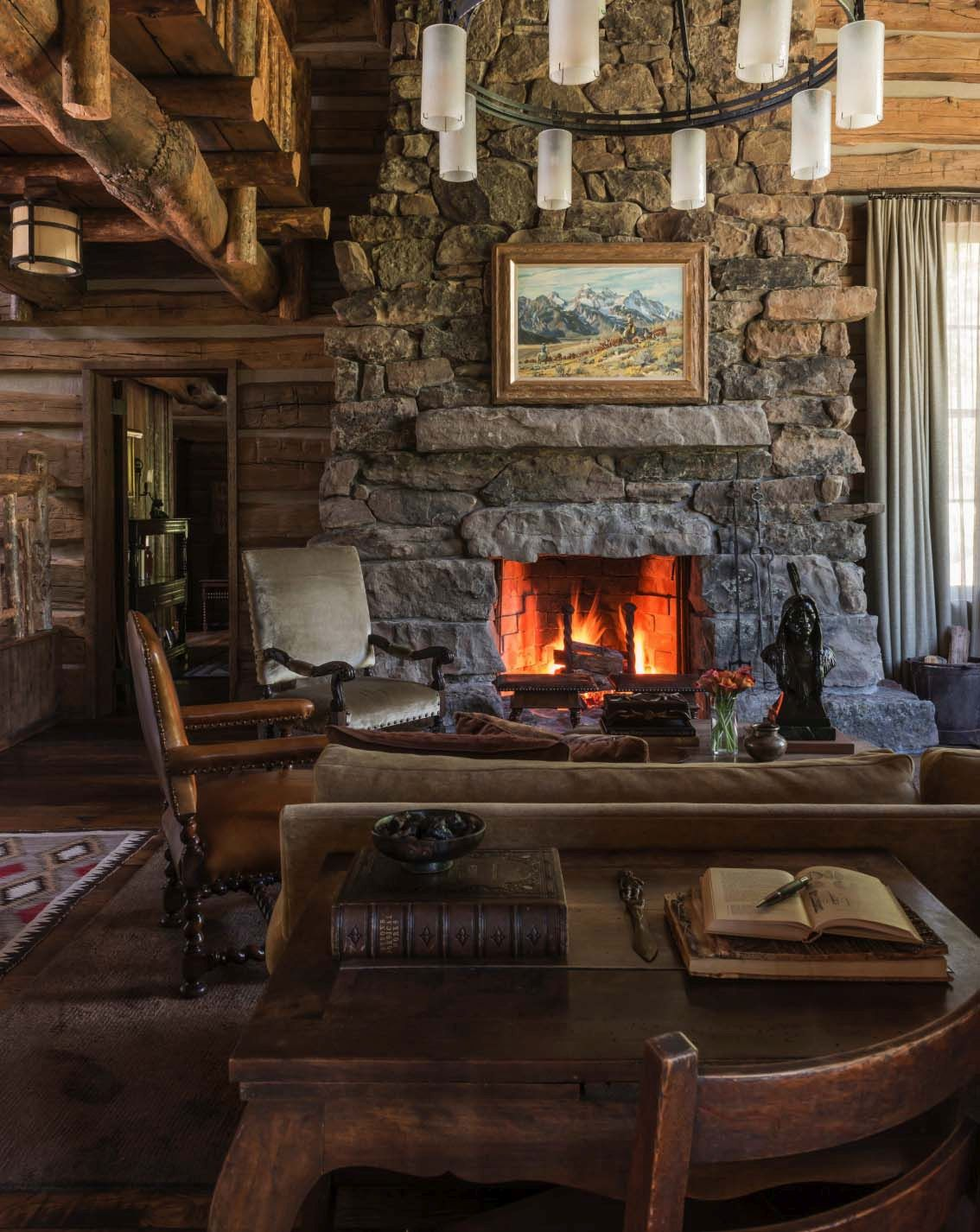 Beautiful Mountain Retreats With Stone Fireplaces