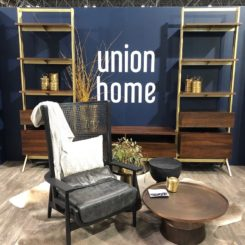 Union Home's bookshelves are ideal for a warm, inviting living room.