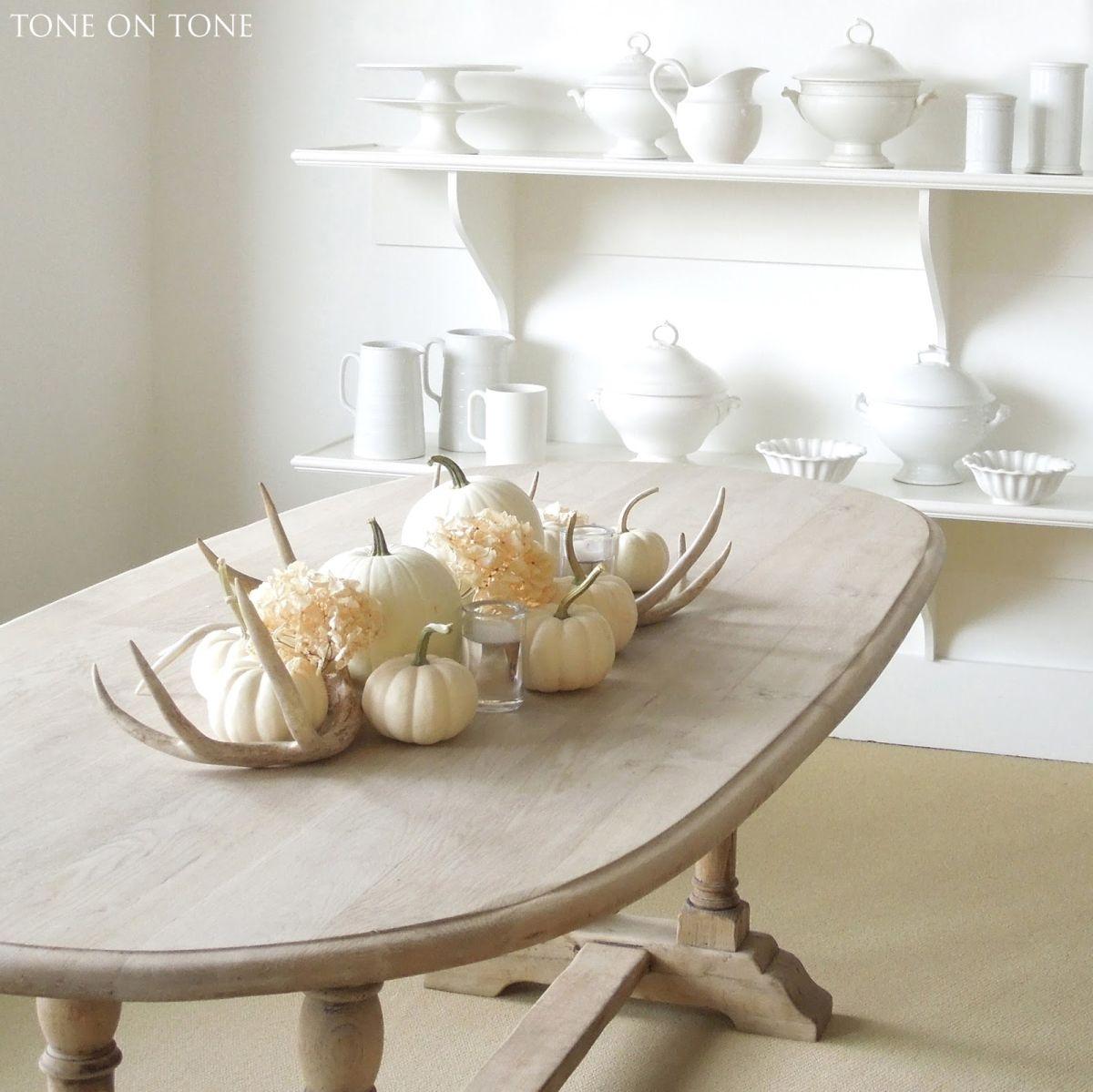 Pumpkin and Antler Table Display
