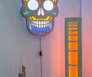 Skull lighting idea for wall