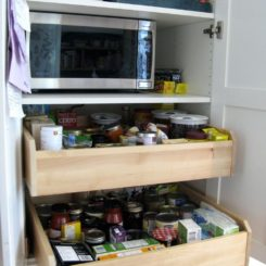 Sliding pullout drawers