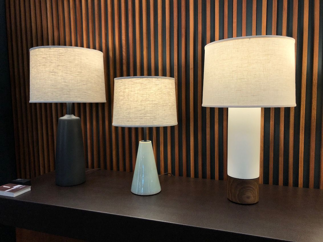 Table lamps, like these from Stone and Sawyer, come in all styles and sizes.