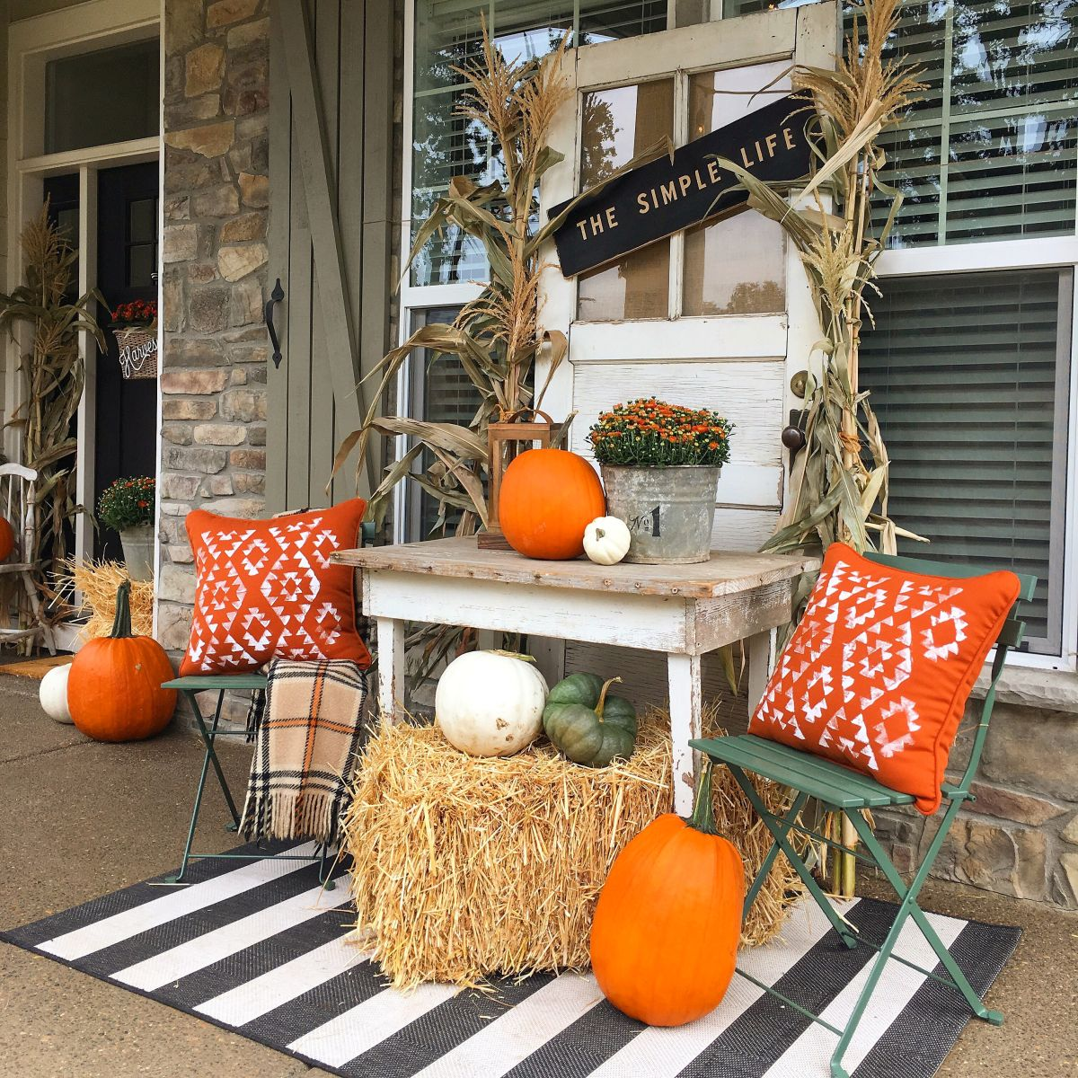 View In Gallery A Fall Porch Decor