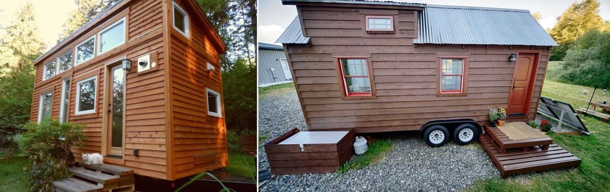 Some tiny house enthusiasts decide to make downsizing a complete DIY project, as Christopher and Melissa Tack did