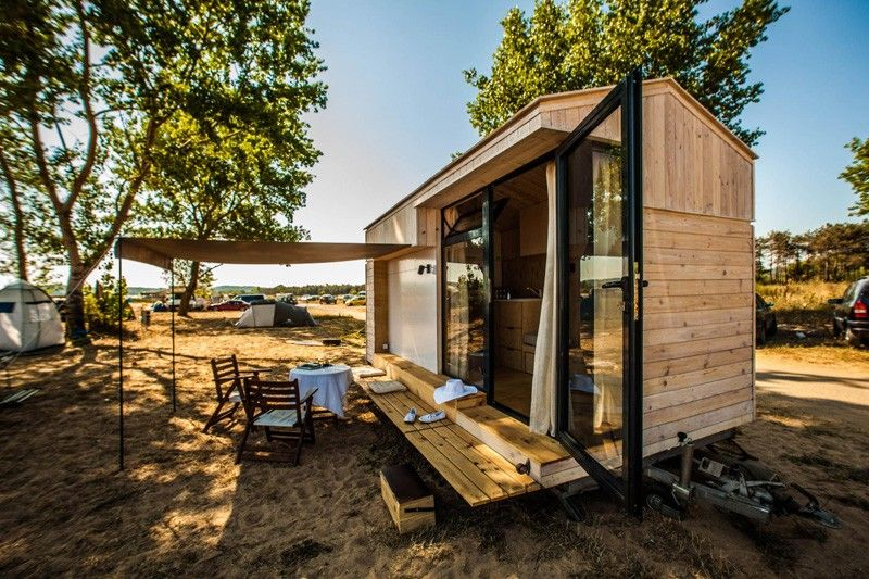 For some people – like Designer Hristina Hristova, a tiny house on wheels is the ultimate vacation house.