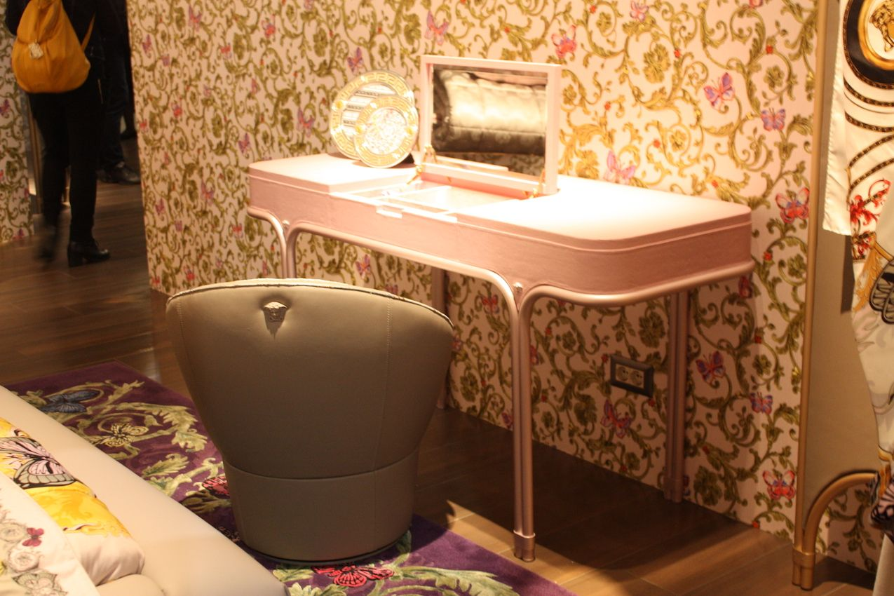 Feminine flair is ideal for a vanity table -- especially a pink one!