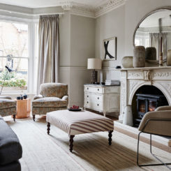taupe living room interior design
