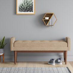 verken mid century modern bench