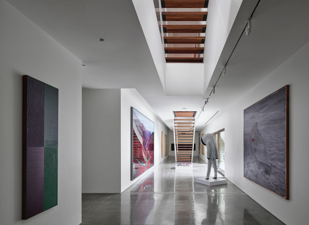 the gallery features specific lighting and climate control which are crucial for the good preservation and display of the art pieces