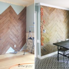Beautiful Chevron Wall plank